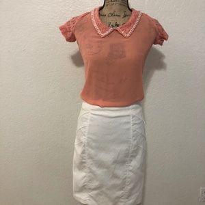 XOXO White Skirt Size S